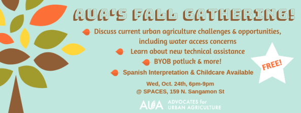 You're Invited! AUA's Annual Fall Gathering, Oct. 24th