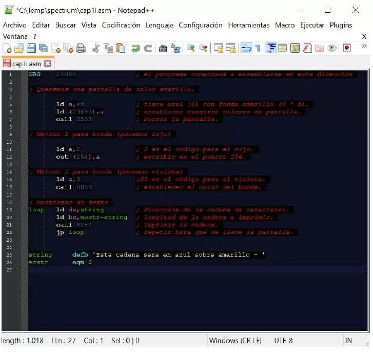 Curso Programación Amstrad CPC: El Entorno de Desarrollo 5