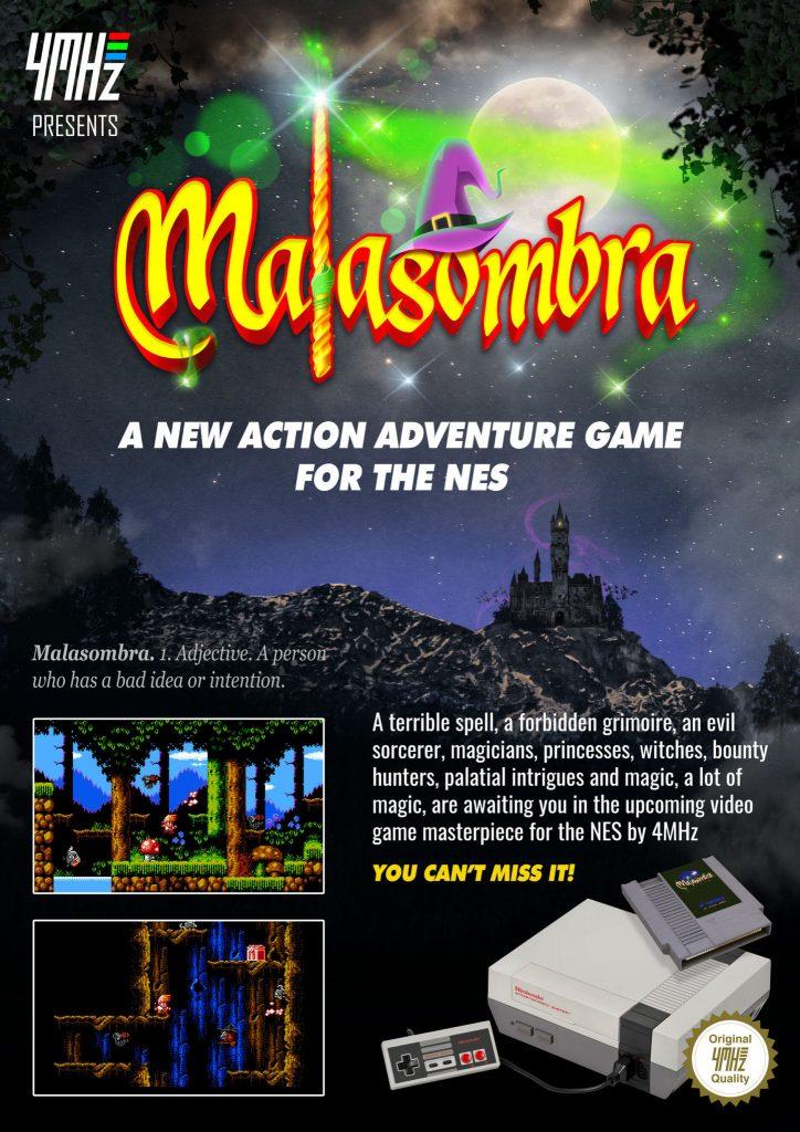 4mhz presenta Malasombra para NES 6