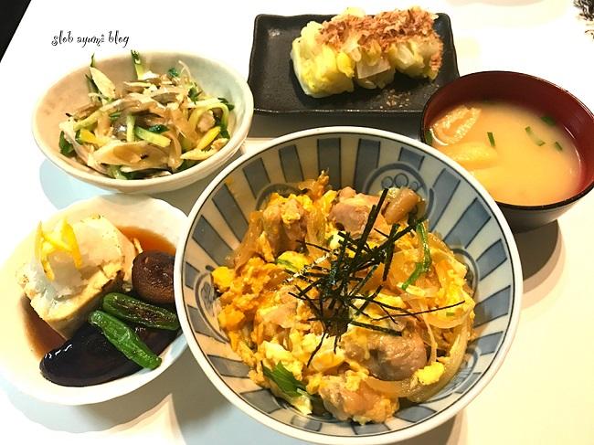 親子丼と揚げ出し豆腐の献立レシピ
