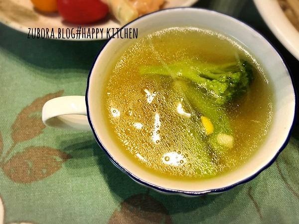 ブロッコリーとコーンの春雨スープ