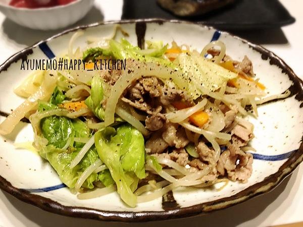 肉野菜炒めのレシピ