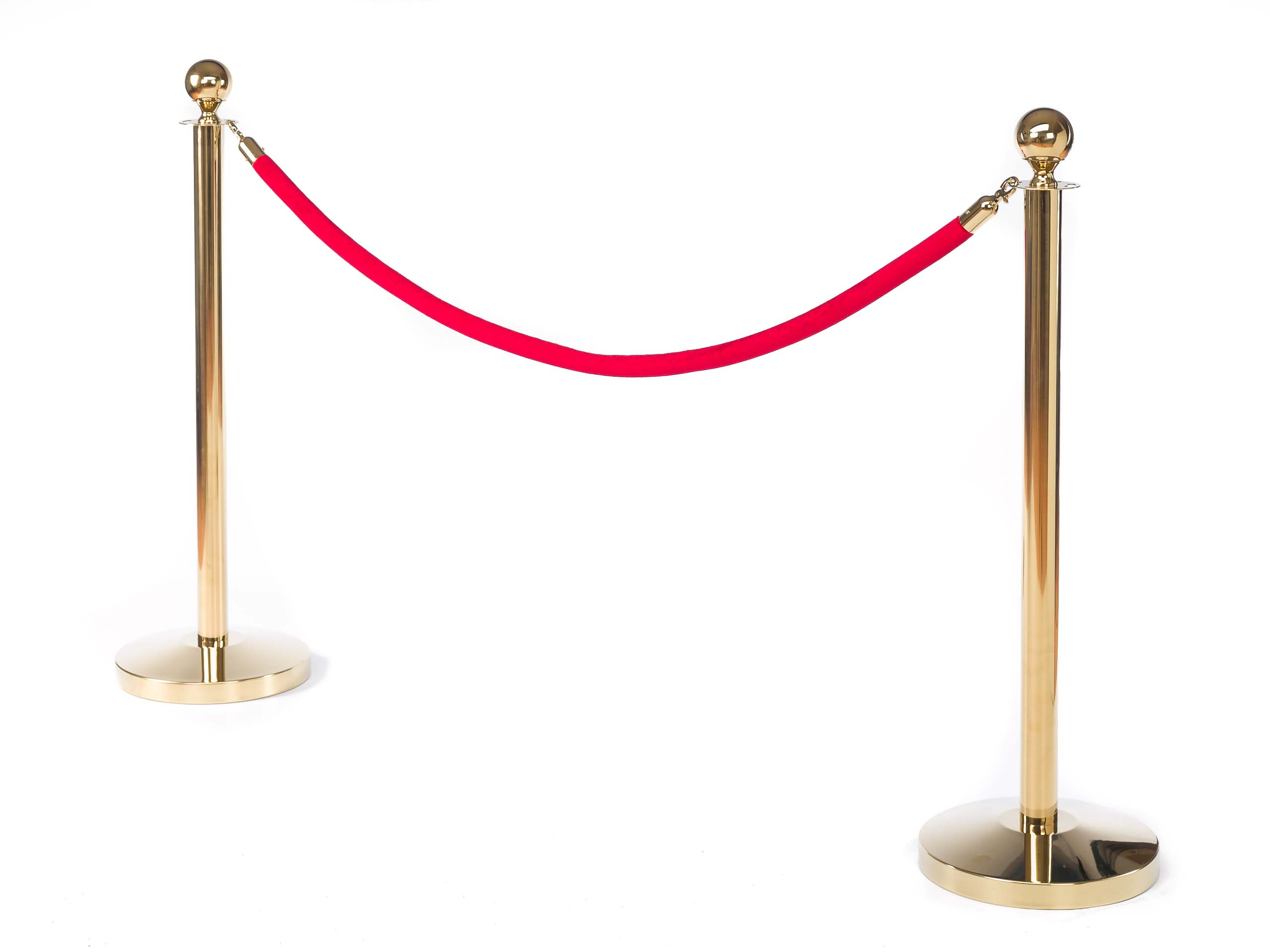 Roter Teppich Vip Teppich Elegant Barrier Vip Stanchion Set Of 2 Posts 1 Rope Golden
