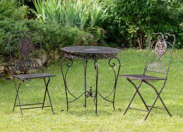 Table De Jardin Plastique Marron   Salon Bas De Jardin Sunday Résine ...