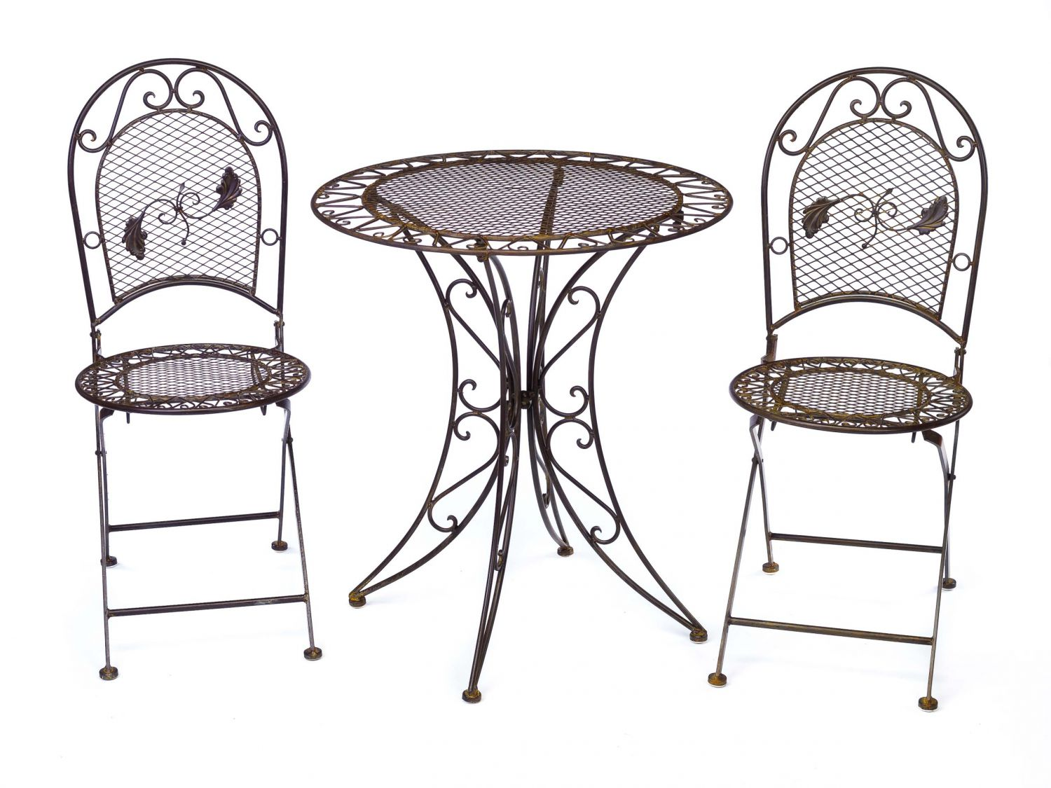 Wrought Iron Table And Chairs Antique Style Garden Furniture Set Table And 2 Chairs