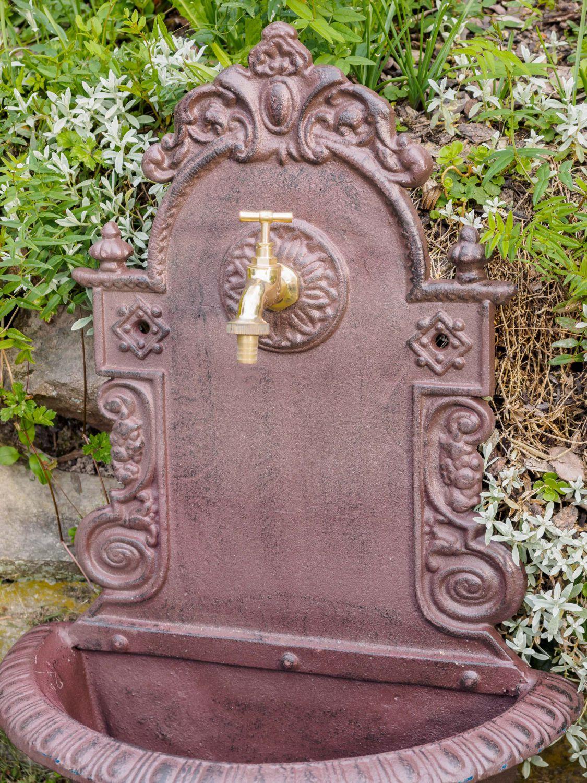 Garten Waschbecken Antik Waschbecken Lowe Wandbrunnen Garten Alu