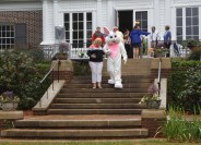 The Easter Bunny took photographs with guests and their families on March 26 at the 1st Annual Spring Fling and Easter Egg Hunt hosted by Augusta University's President and First Lady. (Photo: Shellie Smitley)