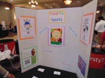 "Here is an image of the poster board, called ""Nutrition & Athletic Performance."" (Photo: Jamie Sapp)"