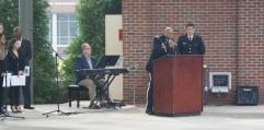 """Col. Alprentice """"Al"""" Smith gives welcoming remarks and shares the importance of celebrating Veterans Day. (Photo: Jamie Sapp)"""