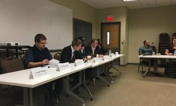 (Left to Right) Candidates Joshua LaFavor, Paul Kelton, LeDarius Scott, David Peltier and Chris Forde are pictured. (Photo: Skyler Mitchell)