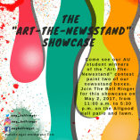 "The ""Art-the-Newsstand"" showcase begins on May 2, from 11 a.m. to 5:30 p.m. at the Allgood Hall patio and lawn."