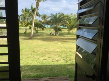 photo vue chambre côté lagon