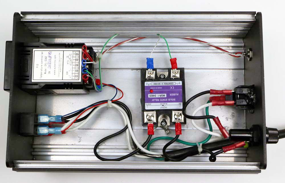 Pid Controller Smoker Wiring Diagram Box For 1 16 Din Controller Deluxe 6x3 2x9 Pbox16 D