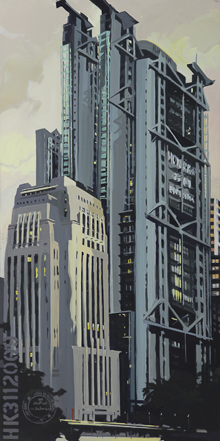 Oeuvre de Michelle Auboiron, peintre - La banque HSBC à Hong Kong Central