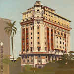 Avenida de los Presidentes - Tableau de la Havane par Michelle Auboiron