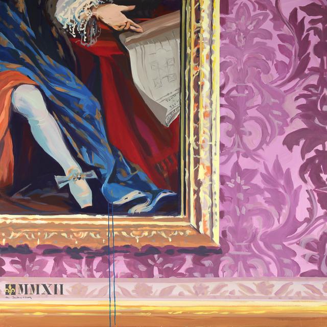La Folie des Grandeurs - Détournement des tableaux officiels du Château de Versailles par Michelle Auboiron