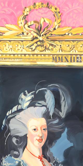 Je n'en fais qu'à ma Tète - Détournement des tableaux officiels du Château de Versailles par Michelle Auboiron