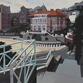 Peinture de l'hôtel de la Reine Hortense à Dinard par Michelle Auboiron - Peinture de Bretagne