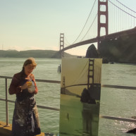Michelle-Auboiron-Bridges-of-Fame-peinture-live-New-York-San-Francisco-2003--10 thumbnail