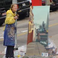 Michelle-Auboiron-Bridges-of-Fame-peinture-live-New-York-San-Francisco-2003--25 thumbnail