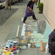 Michelle-Auboiron-Bridges-of-Fame-peinture-live-New-York-San-Francisco-2003--33 thumbnail