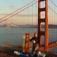 Michelle-Auboiron-Bridges-of-Fame-peinture-live-New-York-San-Francisco-2003--5 thumbnail