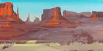 Peinture de l'Ouest américain par Michelle Auboiron - Monument Valley - Utah