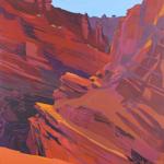 Peinture de l'Ouest américain par Michelle Auboiron - Onion Creek - Moab - Utah