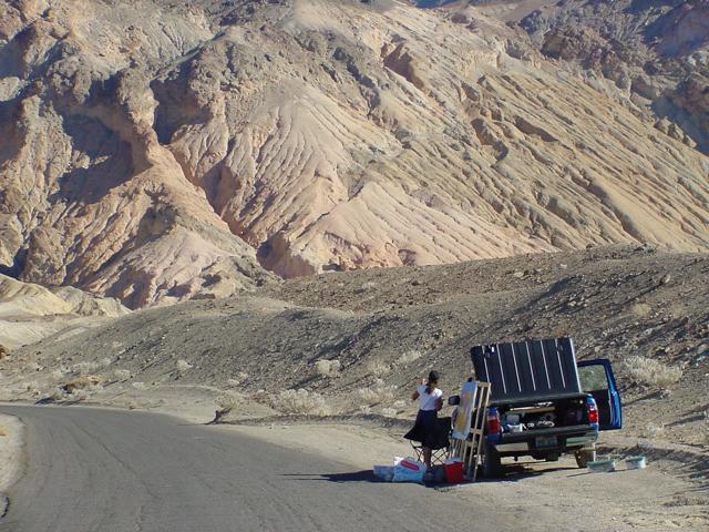 Artist Palette - Death Valley - California - Photo : Charles GUY - 2001
