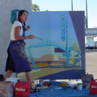Michelle-Auboiron-Motels-of-the-50-s-peinture-live-a-Las-Vegas-11 thumbnail