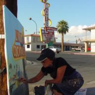 Michelle-Auboiron-Motels-of-the-50-s-peinture-live-a-Las-Vegas-23 thumbnail