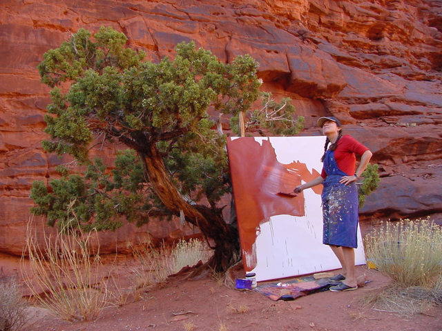 Michelle-Auboiron-Colorado-peintures-Ouest-americain-Utah-Nevada-Arizona-Californie-2001--23