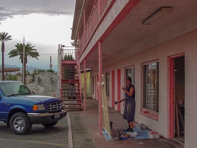 Michelle-Auboiron-Motels-of-the-50-s-peinture-live-a-Las-Vegas-21
