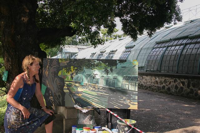 Michelle-Auboiron-peinture-live-aux-serres-d-auteuil-Paris-2004--21