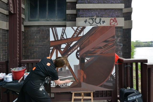 Cermak-Road-Bridge-Chicago-peinture-Michelle-Auboiron-2015-11