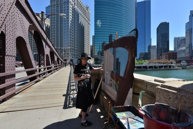Franklin-Street-Bridge-painting-by-Michelle-Auboiron-3