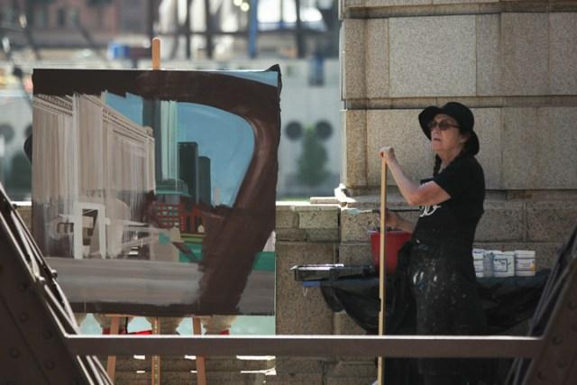 Franklin-Street-Bridge-painting-by-Michelle-Auboiron-4