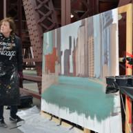Wells-Street-Bridge-painting-by-Michelle-Auboiron-10 thumbnail