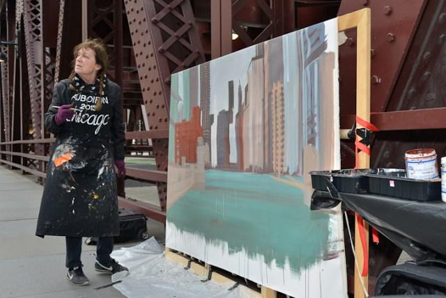 Wells-Street-Bridge-painting-by-Michelle-Auboiron-10