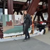 Wells-Street-Bridge-painting-by-Michelle-Auboiron-5 thumbnail