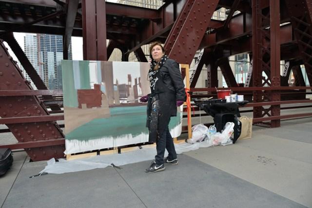 Wells-Street-Bridge-painting-by-Michelle-Auboiron-5