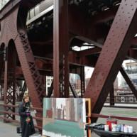 Wells-Street-Bridge-painting-by-Michelle-Auboiron-8 thumbnail