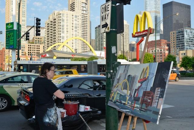 Mac-Donald-s-Chicago-Clark-Ontario-Peinture-Painting-by-Michelle-Auboiron-10