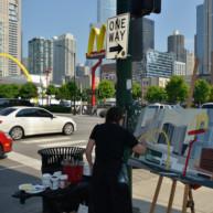 Mac-Donald-s-Chicago-Clark-Ontario-Peinture-Painting-by-Michelle-Auboiron-3 thumbnail