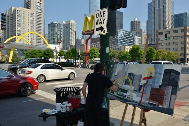 Mac-Donald-s-Chicago-Clark-Ontario-Peinture-Painting-by-Michelle-Auboiron-3