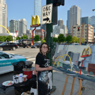 Mac-Donald-s-Chicago-Clark-Ontario-Peinture-Painting-by-Michelle-Auboiron-8 thumbnail