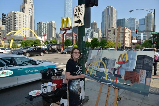 Mac-Donald-s-Chicago-Clark-Ontario-Peinture-Painting-by-Michelle-Auboiron-8