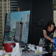 Trump-Tower-and-Chicago-River-Painting-by-Michelle-Auboiron-7 thumbnail