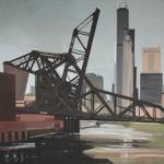Peinture de Chicago par Michelle AUBOIRON - Painting of Chicago by Michelle AUBOIRON - Saint Charles Airline Bridge