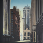 Peinture de Chicago par Michelle AUBOIRON - Painting of Chicago by Michelle AUBOIRON - The Chicago Board of Trade